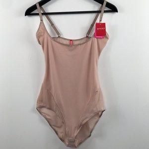Spanx open bust blush bodysuit